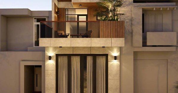 Thích mê mẫu thiết kế nhà phố 2 tầng dù sâu hun hút mà phòng nào cũng sáng