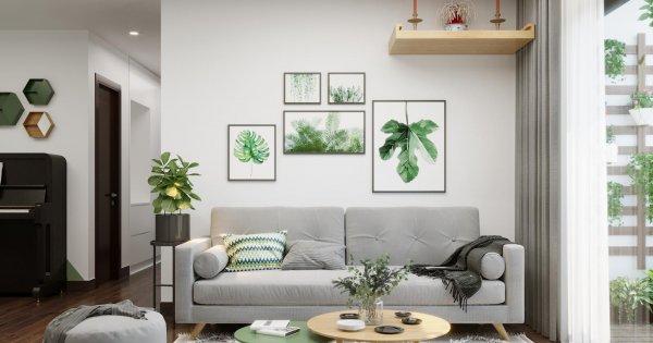 Ngắm căn hộ phong cách Scandinavian mang sắc xanh oliu dịu mát giữa trưa hè oi ả