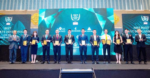 """Gotec Land lập """"cú đúp"""" giải thưởng tại lễ vinh danh Nhà phát triển Bất động sản tiêu biểu 2020"""